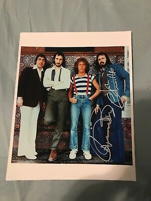 Roger Daltrey+ John Entwistle Signed 8X10 Photo The Who W/Coa+Proof Rare Wow