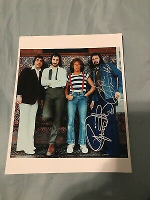 Roger Daltrey+ John Entwistle Signed 8X10 Photo The Who #2 W/Coa+Proof Rare Wow