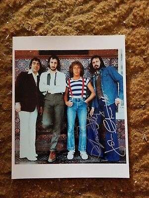 Roger Daltrey+ John Entwistle Signed 8X10 Photo The Who #9 W/Coa+Proof Rare Wow