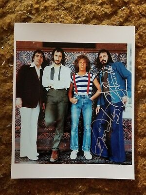 Roger Daltrey+ John Entwistle Signed 8X10 Photo The Who #8 W/Coa+Proof Rare Wow