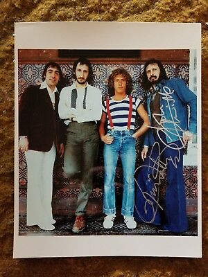 Roger Daltrey+ John Entwistle Signed 8X10 Photo The Who #6 W/Coa+Proof Rare Wow
