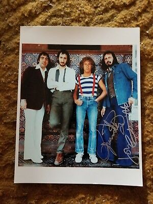 Roger Daltrey+ John Entwistle Signed 8X10 Photo The Who #3 W/Coa+Proof Rare Wow