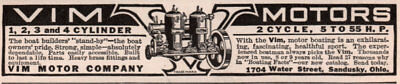 Ad Lot Of 6 Early 1900 's Ads Marine Engine Boat Motor St Clair  Vim Wisconsin