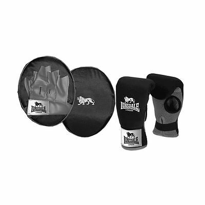 Lonsdale Jab Boxing Fitness Workout Training Glove and Pad Junior Set