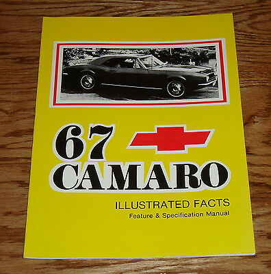 1967 chevrolet camaro wiring diagram manual 67 chevy 900 picclick 1967 chevrolet camaro illustrated facts feature specification manual 67 chevy asfbconference2016 Images