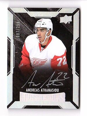 Andreas Athanasiou Nhl 2015-16 Ud Black  Autograph Rc (Detroit Red Wings) #/299