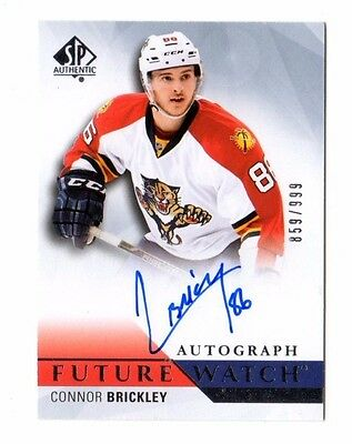 Connor Brickley Nhl 2015-16 Sp Authentic Auto Rc (Panthers,hurricanes) #/999