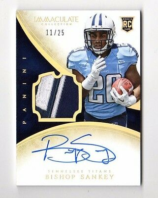 Bishop Sankey Nfl 2014 Immaculate Collection Gold (Jsy,auto,rc) #/25 Titans,viki