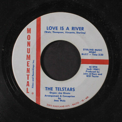 TELSTARS: Sweet Little Angel / Love Is A River 45 (close to M-) Oldies