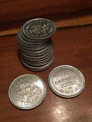 LOT OF 15 Model-T Ford CAR WASH TOKENS / COINS / NO CASH VALUE s5