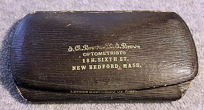 ANTIQUE EYEGLASSES Glasses STERLING Brown Optometrists MASSACHUSETTS New Bedford