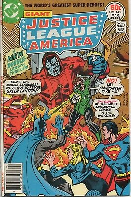 Justice League of America No. 140 March 1977 8.0 VF DC