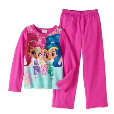 Shimmer And Shine Pink Pajamas Size 4/5 6/6X 7/8 10/12 New!