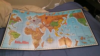 AXIS AND ALLIES second edition: replacement game board only - 1987 parts