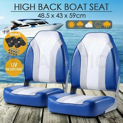 Pair of Speed Fishing Boat Seat Ocean Seating for Helmsman with Swivel Base