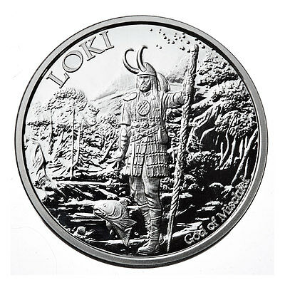 1 Oz Silver Coin Proof Loki-Valkyrie *norse God Series #5 Last In Series -#coa