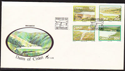 Ciskei 1989 Dams - Water Resources  First Day Cover