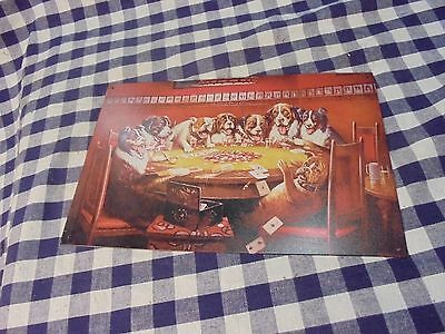 small tin sign dogs playing poker and drinking 1994 mancave decor