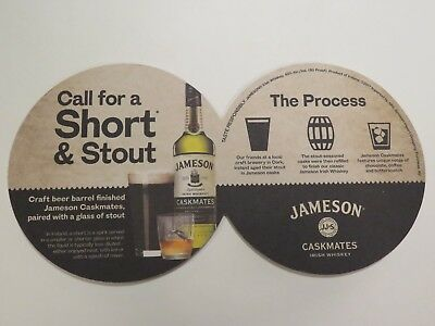 Beer Liquor Drink COASTER ~ JAMESON Caskmates Irish Whiskey; Get A Short & Stout