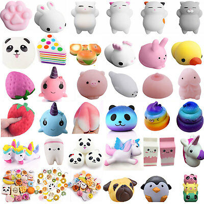 Kawaii Squishies Donut Soft Bread Squishy Cat Charm Slow Rising Stress Reliever