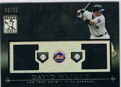 2010 Topps Tribute Relics Dual Black #DW David Wright #42/50