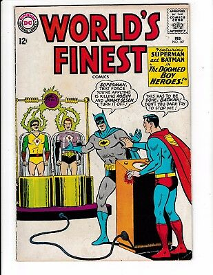 WORLD'S FINEST #147 (VG/FN) Batman! Superman! Classic Silver-Age Comic 1965