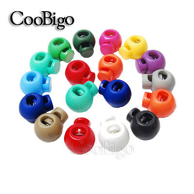 Mixed Colorful Round Ball Cord Lock Toggle Stopper Cord Rope Backpack Bag Parts