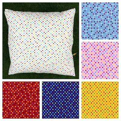 Multicoloured Polka Dot 26 inch Square CUSHION COVER ONLY.