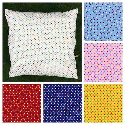 Multicoloured Polka Dot 24 inch Square CUSHION COVER ONLY.