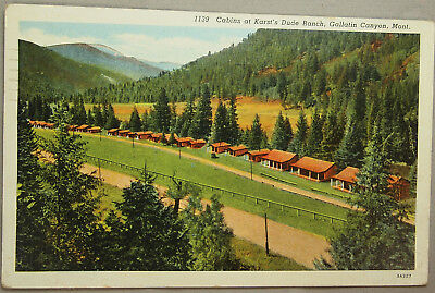 Very Nice Vintage 1942 Dude Ranch Related Postcard With 1 Cent Stamp .....#13145