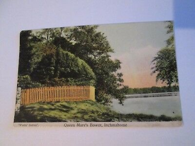 """Postcard of Queen Mary's Bower, Inchmahome (""""Watts"""" series 1910 posted)"""