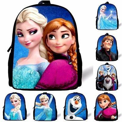 16'' Disney Frozen Elsa Anna Shoulder Kids Backpack Girls Boys School Bag Gift