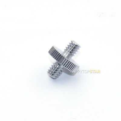 """Metal 1/4"""" -20 UNC Male to 1/4"""" 6mm Male Threaded Screw Adapter Adaptor Camera"""