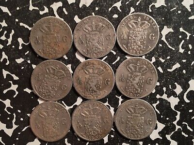 1856 East Indies 1/10 Gulden Silver! (9 Available) Circulated (1 Coin Only)