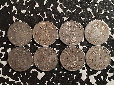 1900 East Indies 1/10 Gulden Silver! (8 Available) Circulated (1 Coin Only)