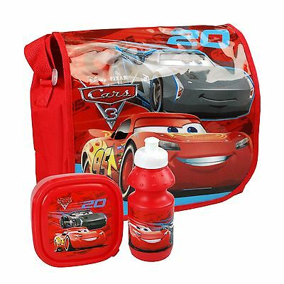 Disney Cars 3 Back To School Set Lightning McQueen Bag, Lunchbox & Water Bottle