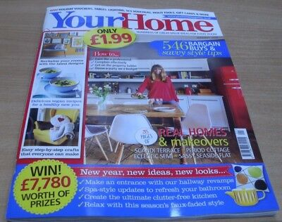 Your Home magazine Jan 2018 Real Homes & makeovers + Bargain buys & style tips