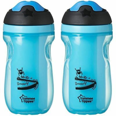 Tommee Tippee Easy Grip Sippee Drink Cup 260ml (Set of 2) BPA free (Blue)