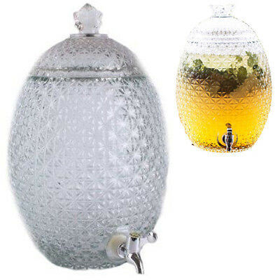 10.2L Pineapple Dispenser Crystal Beverage Glass Drinks Cocktail Juice Party New
