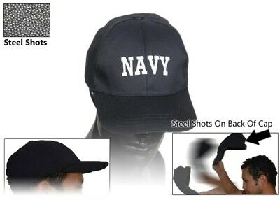 NAVY Self Defense Baseball Hat Cap Low Profile Weighted Style Impact Tool