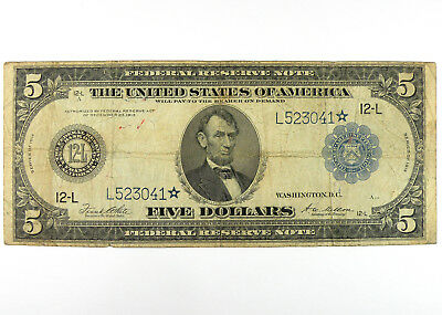 1914 $5 Federal Reserve STAR Note - FR# 891a