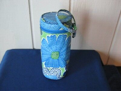 Vera Bradley Water Bottle Holder Baby Bottle Caddy DOODLE DAISY Insulated EUC