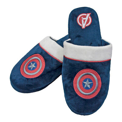 Captain America The First Avenger Marvel Pantofole Fan Mechandise 38-45 NUOVO
