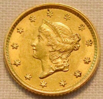 1852 G$1 Type 1 Liberty Coronet Gold One Dollar, Higher Grade, Nice Looking Coin