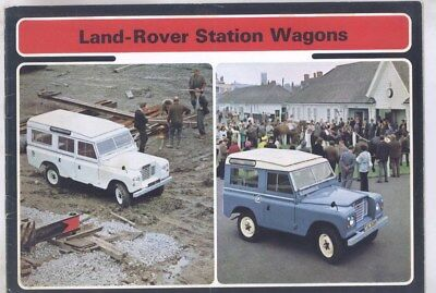 1973 Land Rover Station Wagon Brochure wy8521