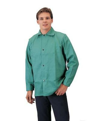 "Tillman 6230 30"" 9 oz. Green Flame Resistant Cotton Welding Jacket, X-Large"