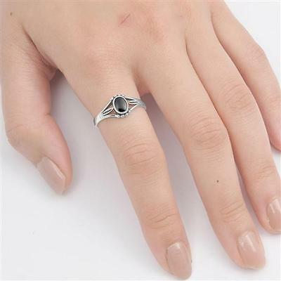 USA Seller Black Onyx Ring Sterling Silver 925 Best Price Jewelry Selectable