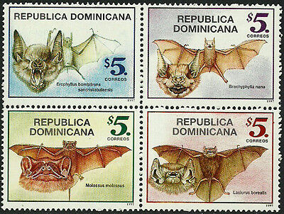 Dominican Rep #1266 Mint Never Hinged Block - Bats