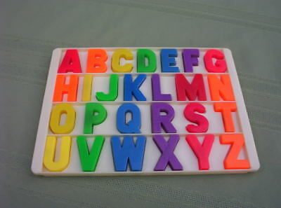 VINTAGE FISHER PRICE FP LITTLE PEOPLE SCHOOL MAGNETIC LETTER TRAY A to Z