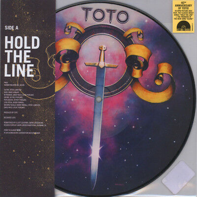 "Toto - Hold The Line / Alone Picture Disc  (Vinyl 10"" - 2017 - EU - Original)"